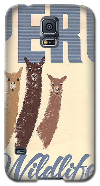 Vintage Wild Life Travel Llamas Galaxy S5 Case by Mindy Sommers
