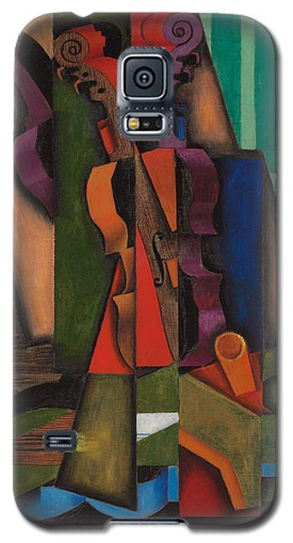 Violin And Guitar Galaxy S5 Case by Juan Gris