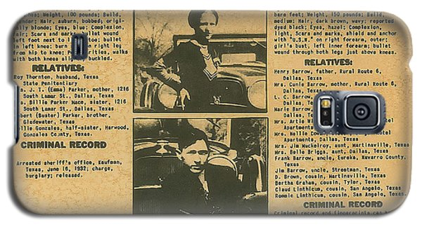 Wanted Poster - Bonnie And Clyde 1934 Galaxy S5 Case by F B I