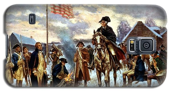 Washington At Valley Forge Galaxy S5 Case by War Is Hell Store