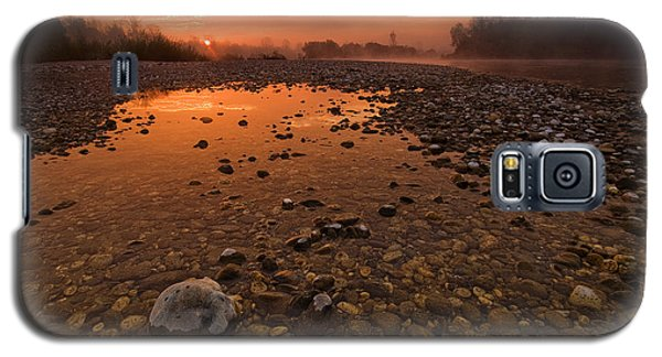 Red Galaxy S5 Cases - Water on Mars Galaxy S5 Case by Davorin Mance