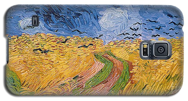 Wheatfield With Crows Galaxy S5 Case by Vincent van Gogh