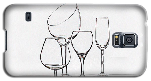 Wineglass Graphic Galaxy S5 Case by Tom Mc Nemar