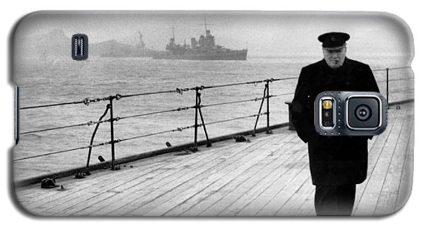 Winston Churchill At Sea Galaxy S5 Case by War Is Hell Store