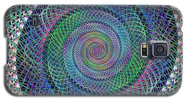 Abstract Galaxy S5 Cases - Wire spiral Galaxy S5 Case by David Zydd