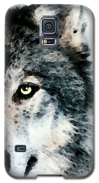 Wolf Art - Timber Galaxy S5 Case by Sharon Cummings