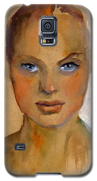 Woman Portrait Sketch Galaxy S5 Case by Svetlana Novikova
