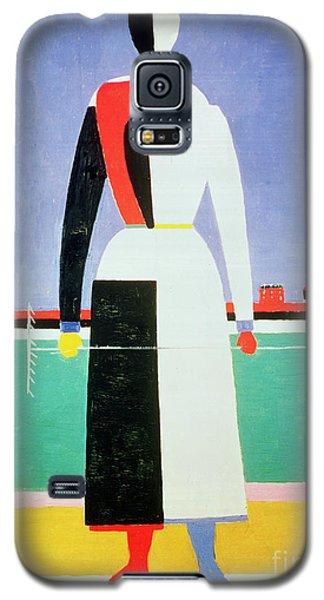Woman With A Rake Galaxy S5 Case by Kazimir Severinovich Malevich
