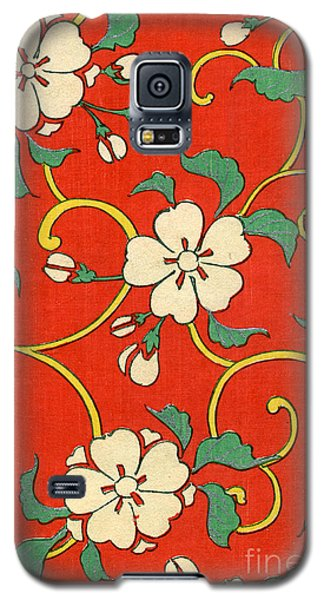 Woodblock Print Of Apple Blossoms Galaxy S5 Case by Japanese School