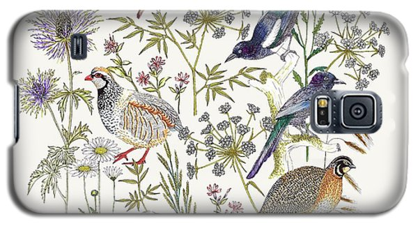 Woodland Edge Birds Placement Galaxy S5 Case by Jacqueline Colley