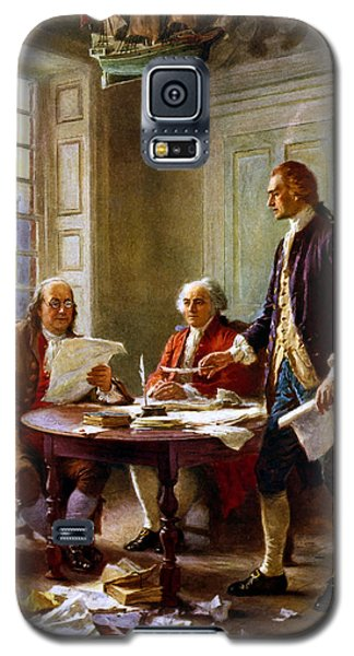 Writing The Declaration Of Independence Galaxy S5 Case by War Is Hell Store