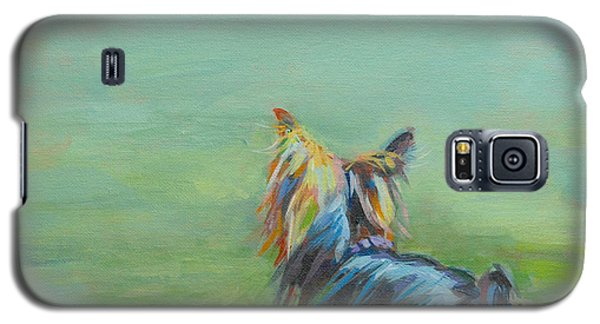 Yorkie In The Grass Galaxy S5 Case by Kimberly Santini