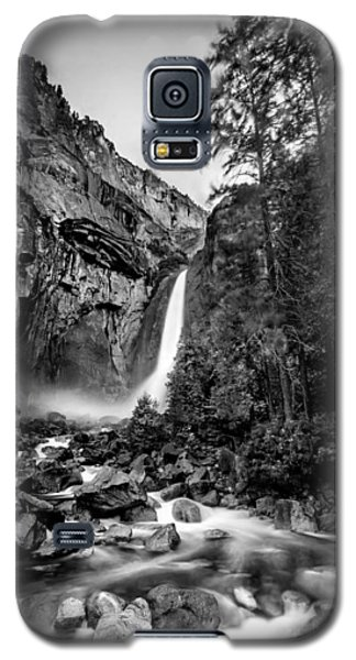 Galaxy S5 Cases - Yosemite Waterfall BW Galaxy S5 Case by Az Jackson