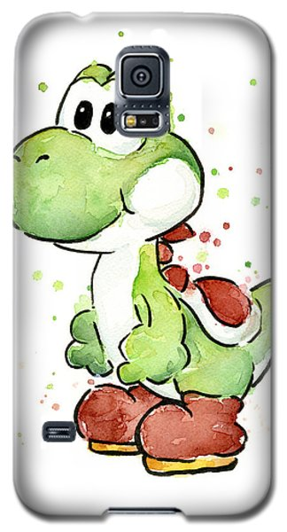 Yoshi Watercolor Galaxy S5 Case by Olga Shvartsur