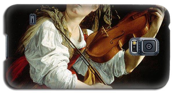 Young Woman With A Violin Galaxy S5 Case by Orazio Gentileschi