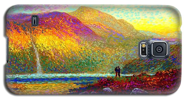Your Love Colors My World, Modern Impressionism, Romantic Art Galaxy S5 Case by Jane Small