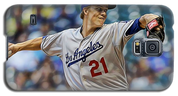 Zack Greinke Los Angeles Dodgers Galaxy S5 Case by Marvin Blaine