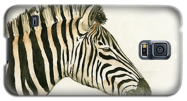 Zebra Head Study Painting Galaxy S5 Case by Juan  Bosco