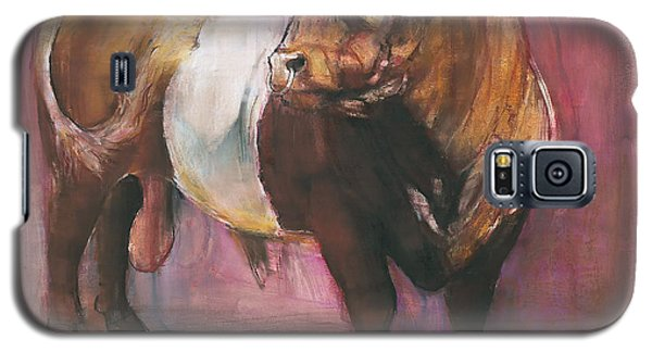 Zeus  Red Belted Galloway Bull Galaxy S5 Case by Mark Adlington