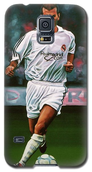 Zidane At Real Madrid Painting Galaxy S5 Case by Paul Meijering