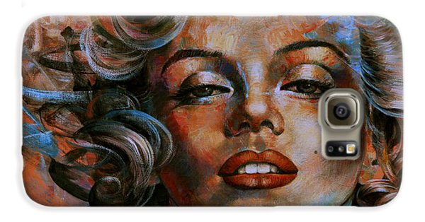 Marilyn Monroe Galaxy S6 Case by Arthur Braginsky