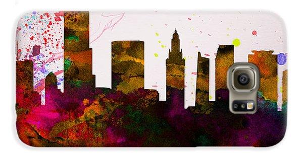 Miami City Skyline Galaxy S6 Case by Naxart Studio