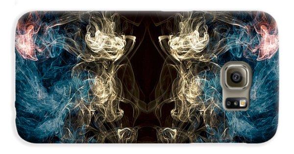 Minotaur Smoke Abstract Galaxy S6 Case by Edward Fielding