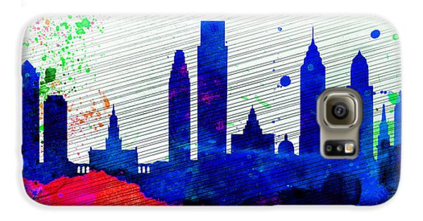 Philadelphia City Skyline Galaxy S6 Case by Naxart Studio