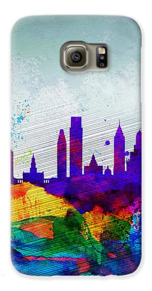 Philadelphia Watercolor Skyline Galaxy S6 Case by Naxart Studio