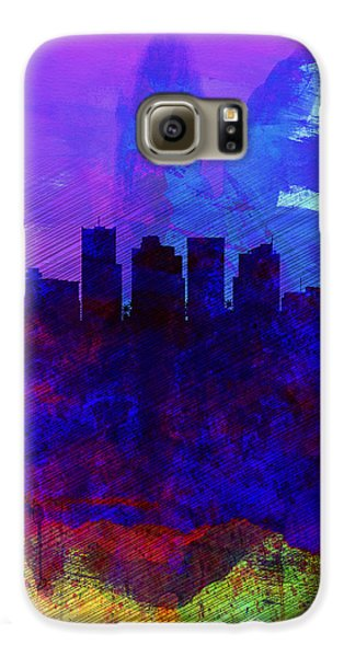Phoenix Watercolor Skyline 1 Galaxy S6 Case by Naxart Studio