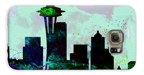 Seattle City Skyline Galaxy S6 Case by Naxart Studio