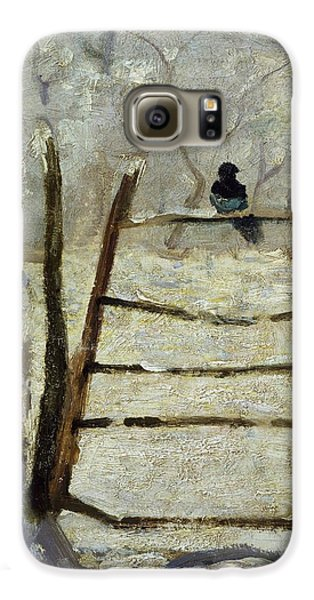 The Magpie Galaxy S6 Case by Claude Monet