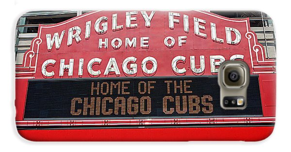 0334 Wrigley Field Galaxy S6 Case by Steve Sturgill