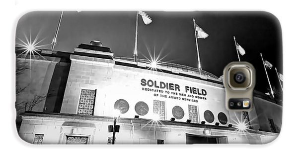 0879 Soldier Field Black And White Galaxy S6 Case by Steve Sturgill