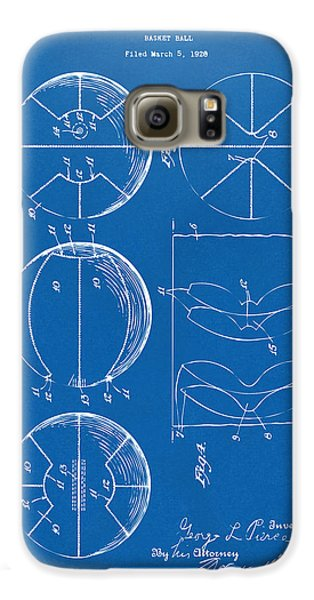 1929 Basketball Patent Artwork - Blueprint Galaxy S6 Case by Nikki Marie Smith