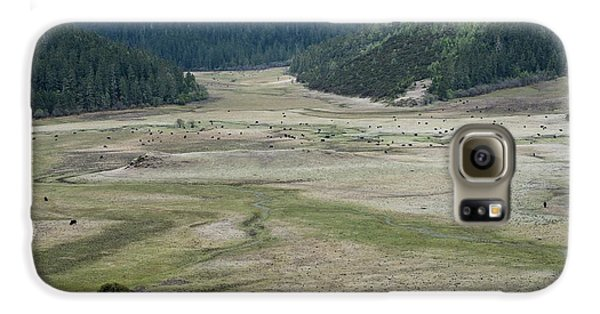 A Herd Of Yaks In Potatso National Park Galaxy S6 Case by Tony Camacho