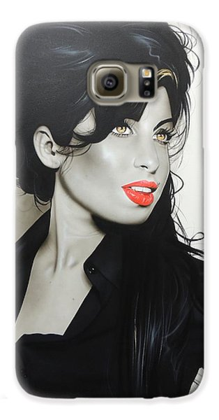 'amy Winehouse' Galaxy S6 Case by Christian Chapman Art