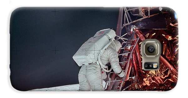 Apollo 11 Moon Landing Galaxy S6 Case by Image Science And Analysis Laboratory, Nasa-johnson Space Center