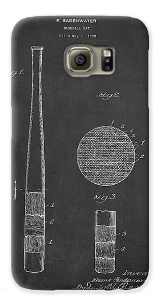 Baseball Bat Patent Drawing From 1920 Galaxy S6 Case by Aged Pixel