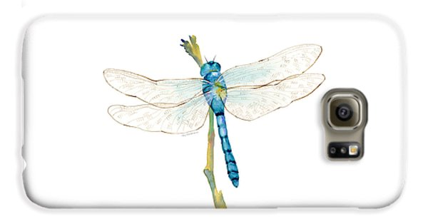 Blue Dragonfly Galaxy S6 Case by Amy Kirkpatrick