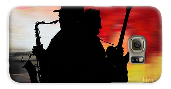 Bruce Springsteen Clarence Clemons Galaxy S6 Case by Marvin Blaine