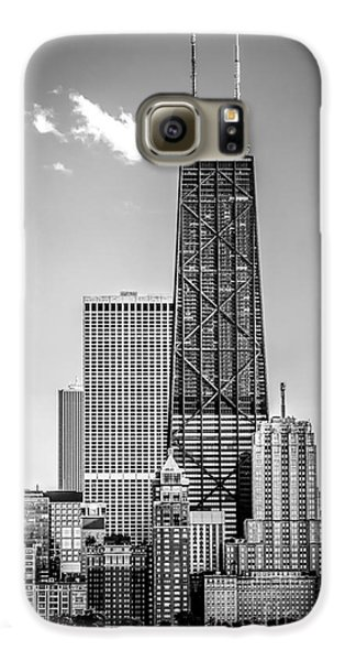 Chicago Hancock Building Black And White Picture Galaxy S6 Case by Paul Velgos