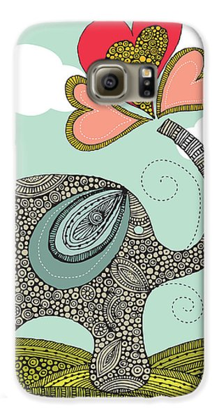 Cute Elephant Galaxy S6 Case by Valentina Ramos