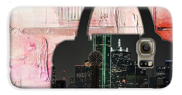 Dallas Texas Skyline In A Purse Galaxy S6 Case by Marvin Blaine