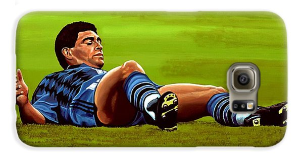 Diego Maradona Galaxy S6 Case by Paul Meijering