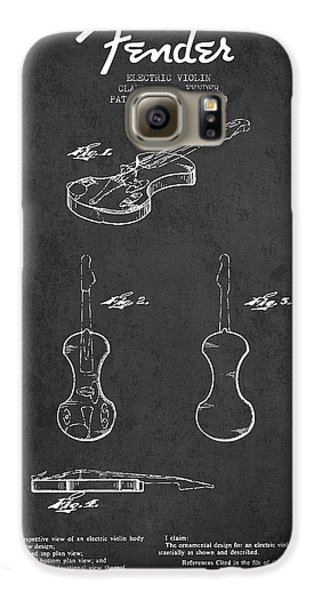 Electric Violin Patent Drawing From 1960 Galaxy S6 Case by Aged Pixel