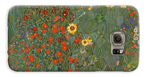 Farm Garden With Sunflowers Galaxy S6 Case by Gustav Klimt
