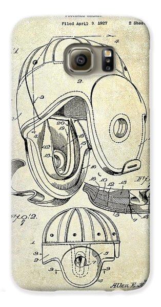 Football Helmet Patent Galaxy S6 Case by Jon Neidert