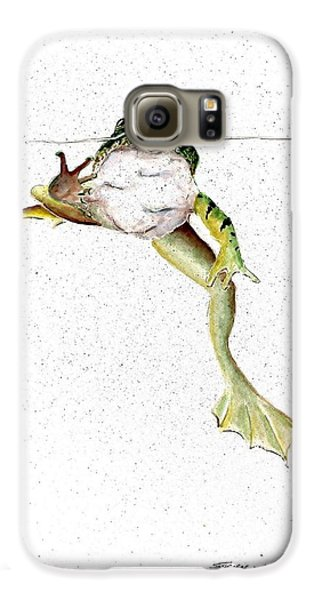 Frog On Waterline Galaxy S6 Case by Steven Schultz
