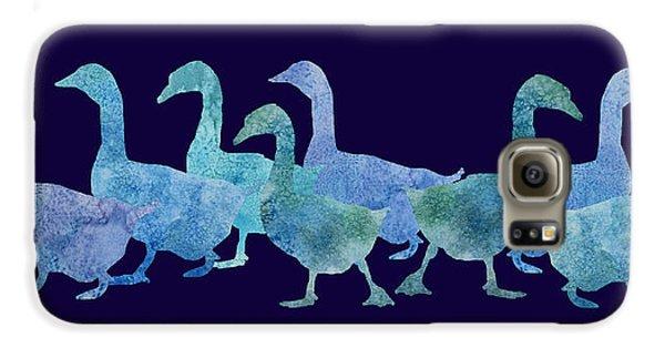 Geese Batik Galaxy S6 Case by Jenny Armitage